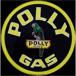 24 INCH  VINTAGE POLY GAS METAL SIGN $ 79.00