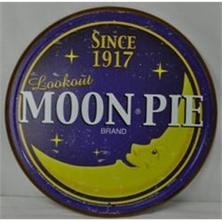 12 INCH VINTAGE MOON PIE SIGN $35.00/ METAL