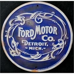 12 METAL INCH ANTIQUE FINISH FORD SIGN $59.00