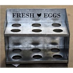 METAL STORE ADVERTISING EGG HOLDER
