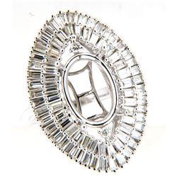 2.76 CTW Diamond Semi Mount Ring 14K White Gold - REF-274R7K