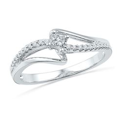 0.16 CTW Diamond Solitaire Bridal Ring 10KT White Gold - REF-18Y2X