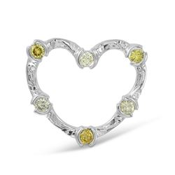 0.55 CTW Diamond Pendant 14K White Gold - REF-56Y7X