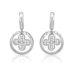 0.40 CTW Diamond Earrings 18K White Gold - REF-70M9F