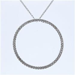 0.84 CTW Diamond Necklace 14K White Gold - REF-53N3Y