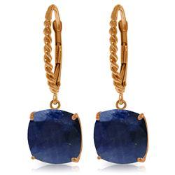 Genuine 9.66 ctw Sapphire Earrings Jewelry 14KT Rose Gold - REF-89X3M