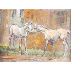 Anna Dwyer, oil on canvasboard Kelly Vollrath, pencil