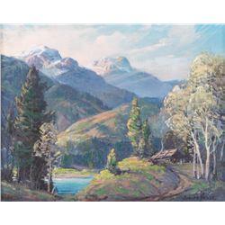 Adolph Heinze, oil on canvasboard