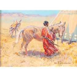 Nancy McLaughlin, oil on canvas Leo Beaulaurier, pastel