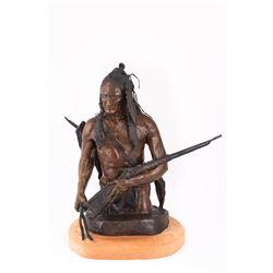 John R. Phelps, bronze Glenn Emmons, woodcarving