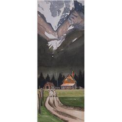 Jeff Walker, watercolor Schonot, oil on board