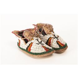 Sioux Baby Beaded Moccasins Turtle Fetish