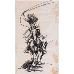 Edward Borein, three drawings
