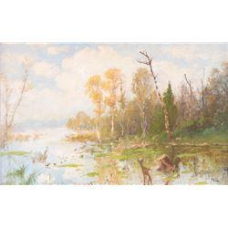 John Fery, oil on canvasboard