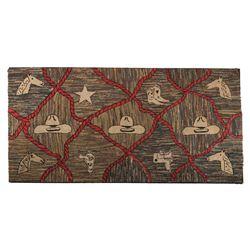 "American Folk Art Textile, 51.25"" x 99"""
