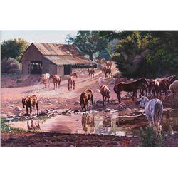 Wayne Justus, oil on canvas