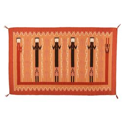 "Navajo Rug, 4'6 ½"" x 2'10"""