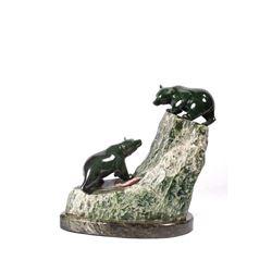 Charles Min Hu, jade sculpture