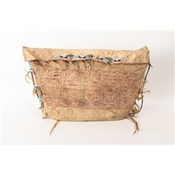 """Northern Plains Beaded & Quilled Possible Bag, 25"""" x 15"""""""