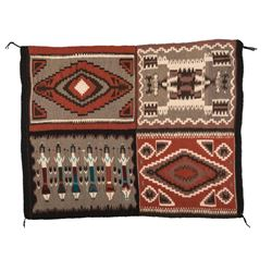 "Navajo Rug, 4'2"" x 3'6"""