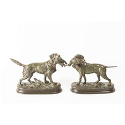 Paul Edouard Delabrierre, two bronzes