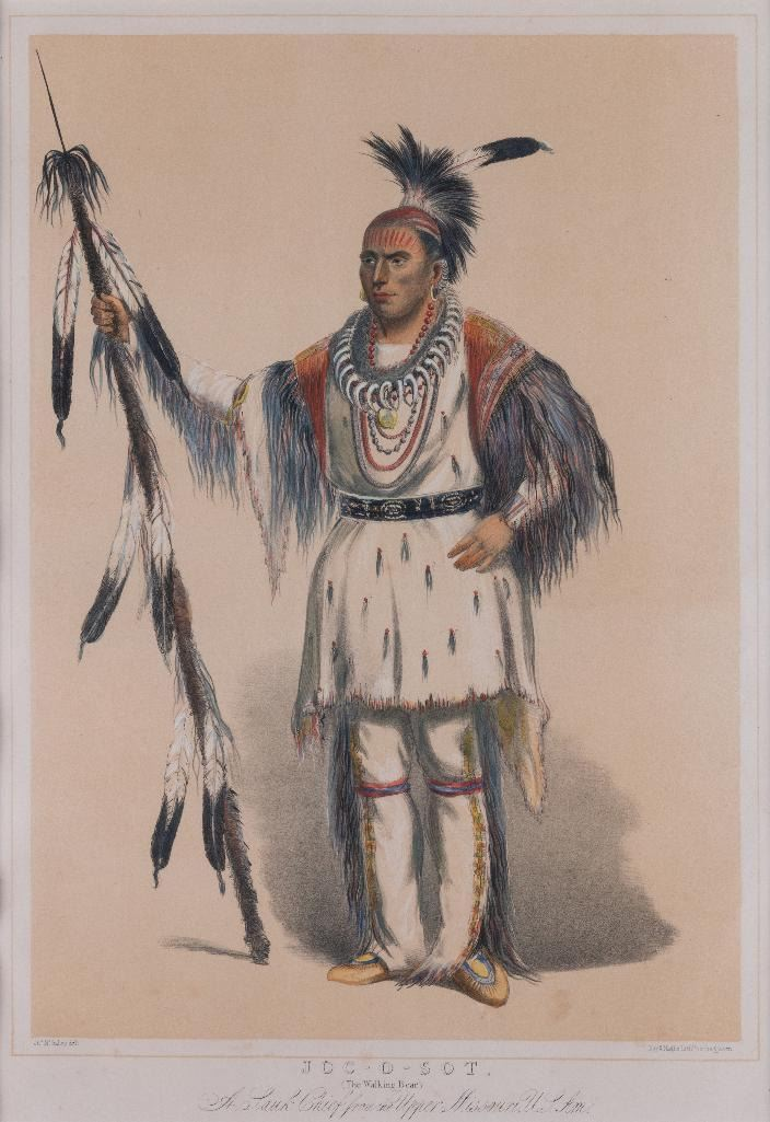 George Catlin, lithograph