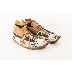 "Cheyenne Beaded Man's Moccasins, 9.5"" long"