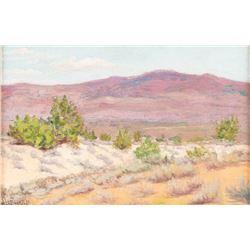 Joseph Henry Sharp, oil on canvasboard
