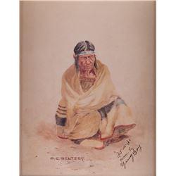 Olaf C. Seltzer, watercolor