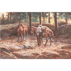 Russ Vickers, four oils