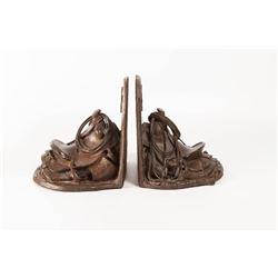 Bill Nebeker, bronze bookends