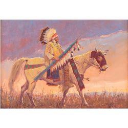 John DeMott, oil on canvasboard
