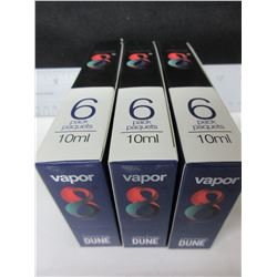 3 packs of Vapor 8 100% USA produced Liquid nicotine free / Blueberry