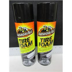 2 New Armor All Tire Foam / 567g / powerful clean for deep black look