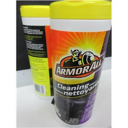 2 New Armor All Cleaning Wipes for Auto Surfaces / lint free no residue/25 per