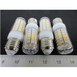 4 New 69 LED Cobb Lightbulbs / save huge on power / warm white= to 60watt