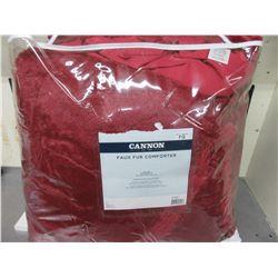 New Full/Queen  Faux Fur Comforter / super soft machine wash