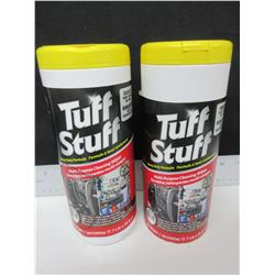 2 New Tuff Stuff Rugged Cleaning Wipes / won't shread or tear