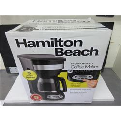 New Hamilton Beach 12 cup Programmable Coffee Maker/ 3 brew options