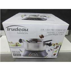 New Trudeau Maison 3 in 1 Electric Fondue Set / 13 pieces