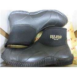 Red Head Mallard 5 inch size 8 Boots / right boot needs a sew at back/see pic