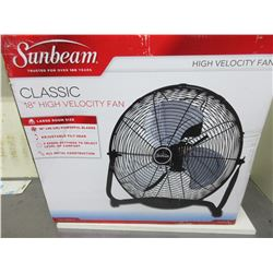 "New Sunbeam classic 18"" High Velocity Fan/ powerful blades all metal"