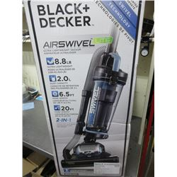 New Black & Decker Air Swivel Lite Upright Vacuum Cleaner