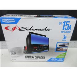 New Schumacher Battery Charger 15a rapid charge 3a maintain for standard