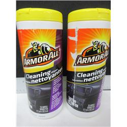 2 New ArmorAll Cleaning wipes / 25 per can