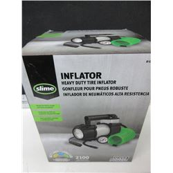 New Slime Heavy Duty Tire Inflator 12 volt / with heavy duty zippered carry bag