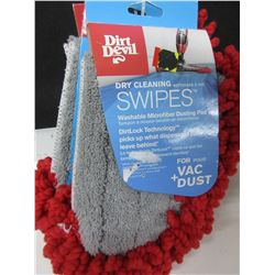 New Dirt Devil dry cleaning Swipes 3pc washable microfiber dust pad