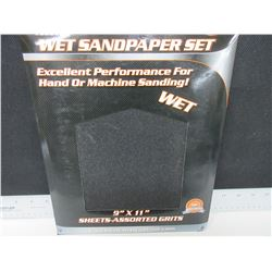 New 20 piece Wet Sandpaper set / Assorted grit / 60-100-150-240 grits/5ea
