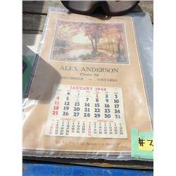 1948 ALEX ANDERSON CALENDAR