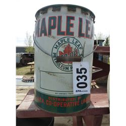 MAPLE LEAF 5 GALLON PAIL